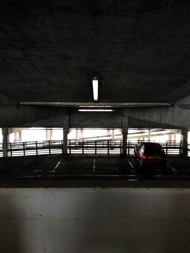Mode Of Transport Dark One Car Alone Lonely Lonelyplanet Iphoneonly Parking Lot Carparks Multistory Derby Contrast Illuminated No People City Life