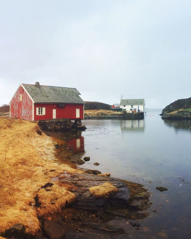 Old boat house Enjoying Life The Great Outdoors - 2016 EyeEm Awards Naturelovers Vintage Visitnorway Classic Norway Norway Rural Norway Travel Photography Seascape Old Buildings