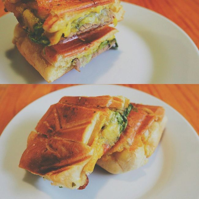"""Cubano garlic Jaffle ... Inspired by the movie """"Chef"""" but with a lil bit of italian & australian twist......"""
