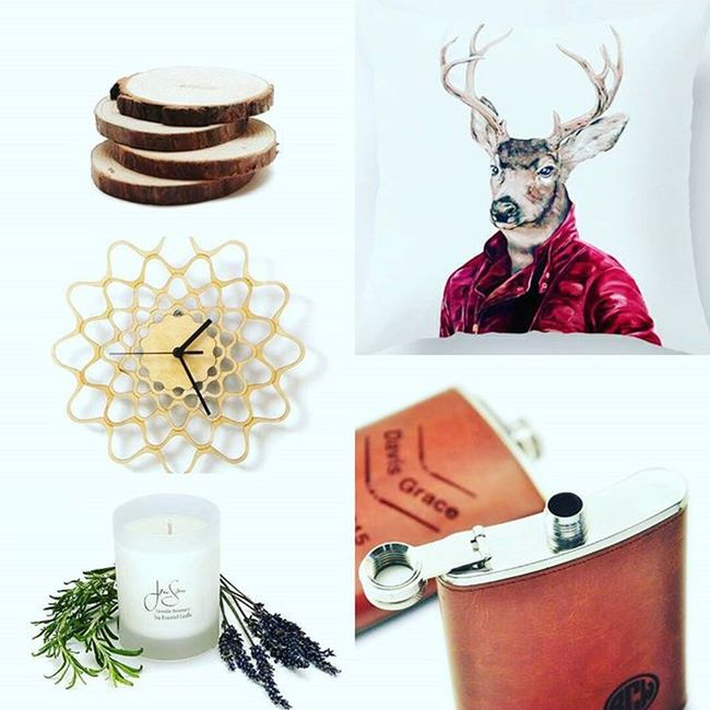 Day two round up of my fav picks @storenvy Blackfridaysale ! Get 30% off and help support small businesses and Creative Entrepreneurs (including me-search Jac&Jil Handmade Goods For The Home)...our families thank you💕 Gifts round Wood Coasters Whimsical Deer Throwpillow Cushion Monogrammed Flask Lavender Soycandles Natural Essentialoils Embroidery Wall Clock made of wood Shopping