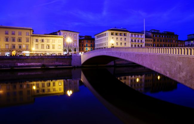 Pisa by night Pisa Night Tuscany Sky Light Long Exposure Arno  Water Blue Sky Italy City Nature Colors Colorful Beautiful Urban Geometry Photo Photography