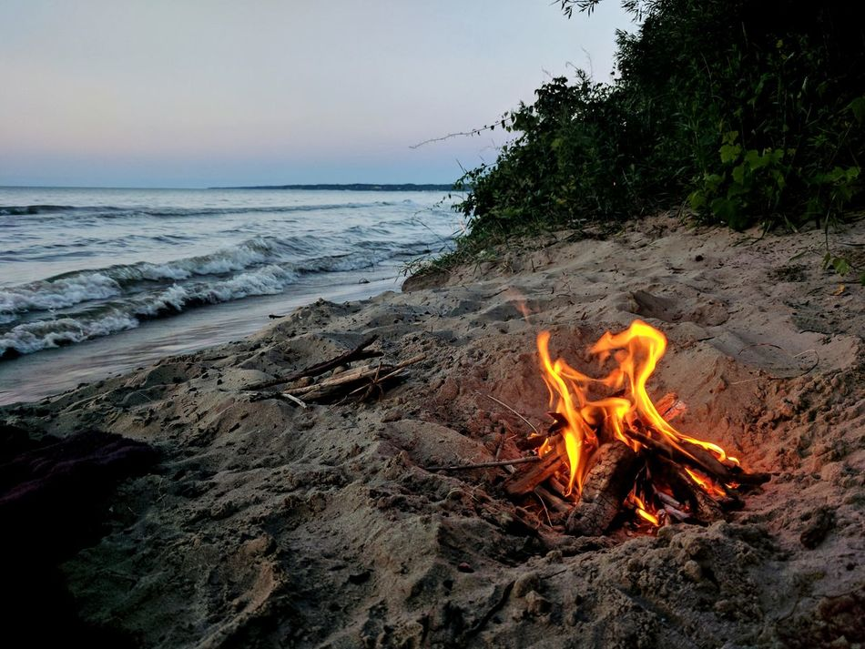 Beach Sand Sunset No People Tranquility Outdoors Beauty In Nature Landscape Flame Fire Explore Tranquil Scene