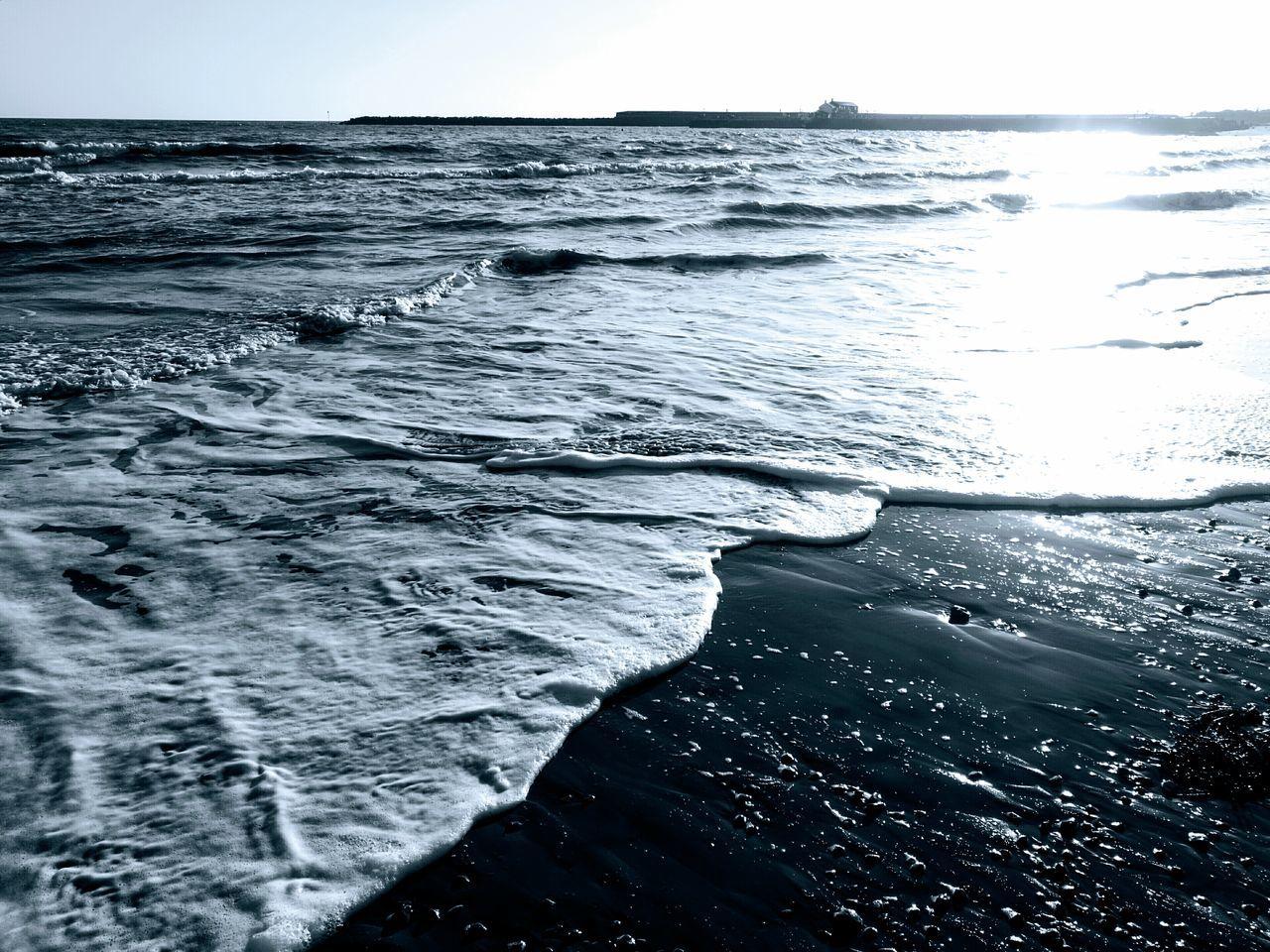 Sea Horizon Over Water Lyme Regis Landscape Photography Blackandwhitephotography Heritage Coastline Dorset,EnglandCoast The Cobb Winter Sunshine