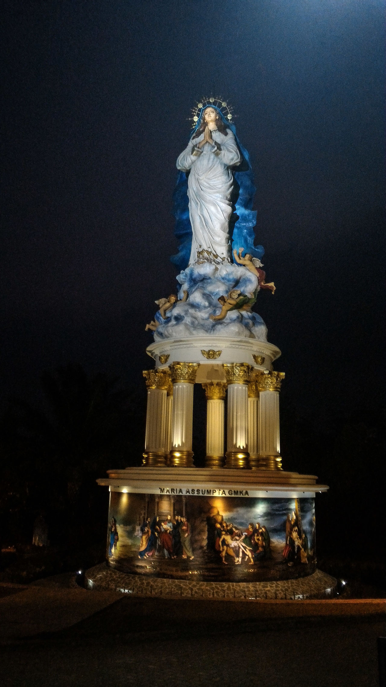 Goa Maria Kereb Ambarawa - Mother Mary Full of Grace Statue SaintMary Mothermary Mothermaria Bunda Maria Fullofgrace Virgin Mary Virginmary Ibusuci