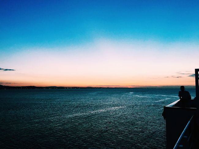 Water Sea Sunset Beauty In Nature Horizon Over Water Tranquility Seascape Nature Blue Ocean Non-urban Scene Sky Calm Tranquil Scene Waterfront Outdoors First Eyeem Photo