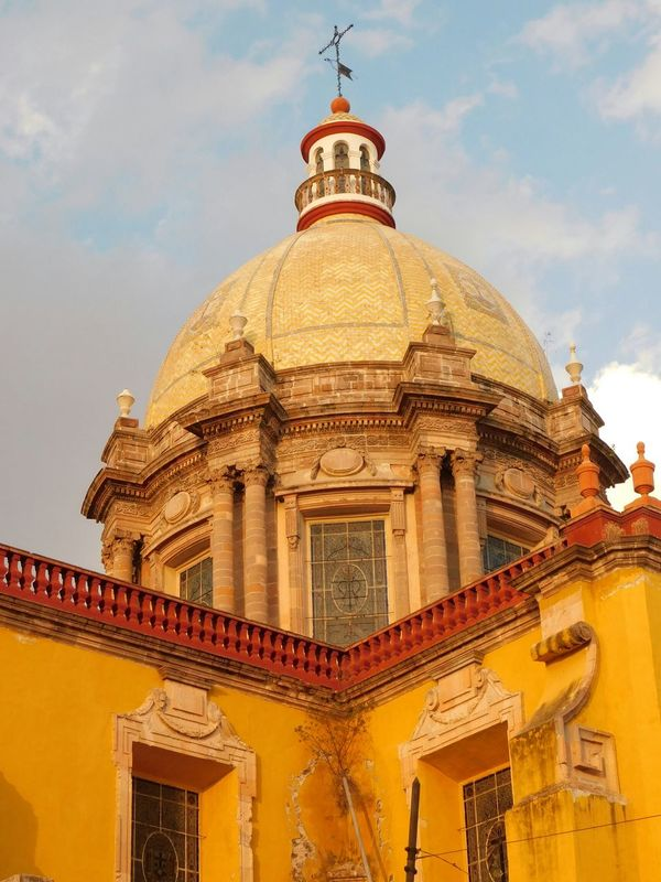 Travel Destinations Travel City Gold Colored Architecture Building Exterior Sky No People Outdoors Skyscraper Day Mexican Mexico Celaya Mexico Desconocido