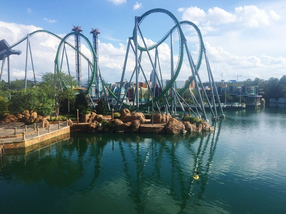 Sky Water Waterfront Outdoors Day No People Amusement Park Nature roller coaster universal florida Orlando
