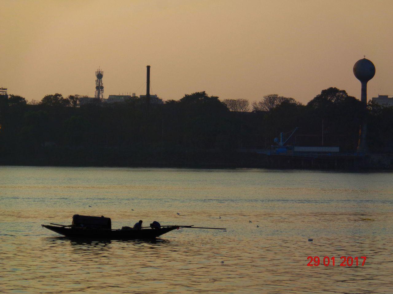 Sunset.... Sunset Silhouette Sky Water Melleniumpark Nautical Vessel