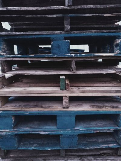 Full Frame Stack Backgrounds Outdoors Close-up No People Day Wood - Material Pallets Stacked Pallets