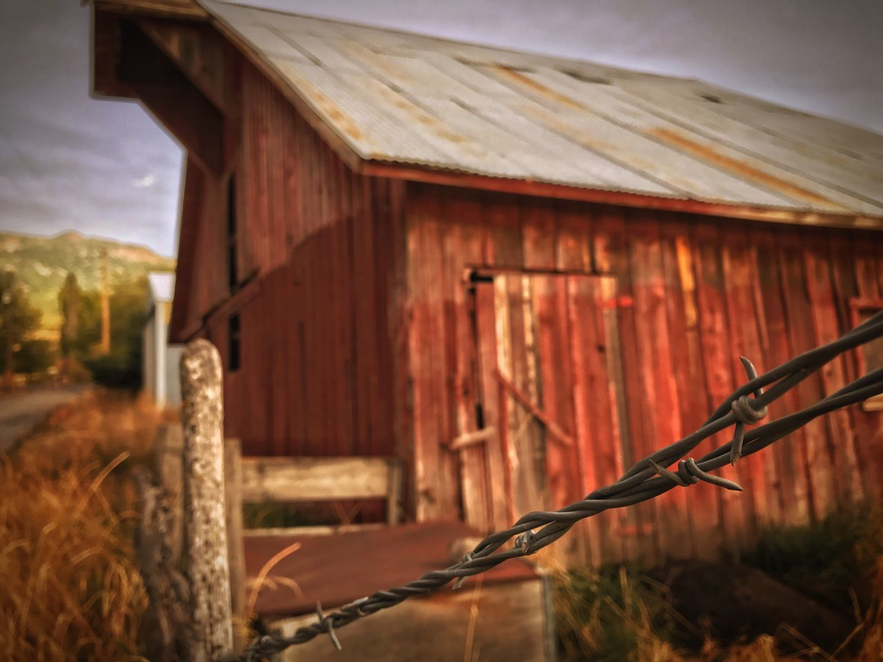 Built Structure Wood - Material Architecture Barn Barbed Wire Farm Life