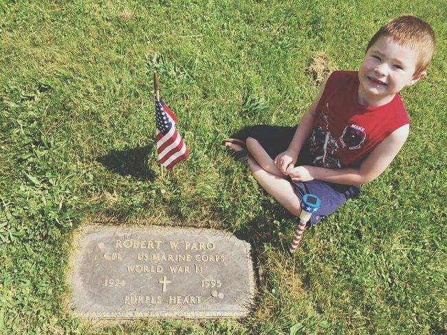 Memorial Day Honoring Veterans My Fathers Grave My Nephew ❤ American Flag Gravestone Cemetery Photography Memorial Time Passes By