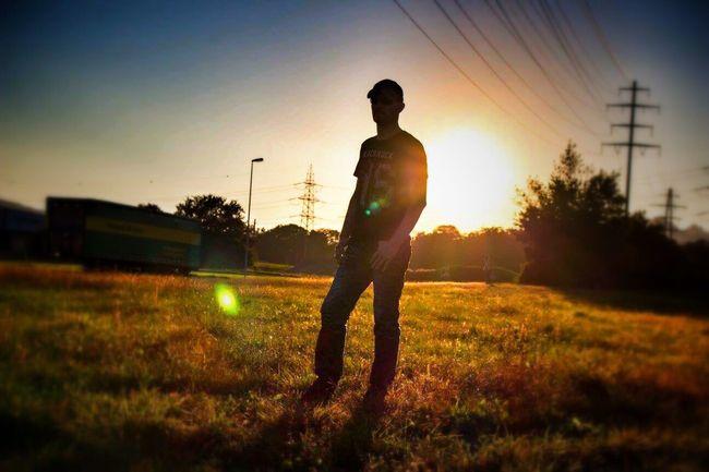 Sunset Sun Lifestyles Standing Sunlight Men Silhouette Clear Sky Tadaa Community My Man My Love Man Silhouette Sunset_collection Field