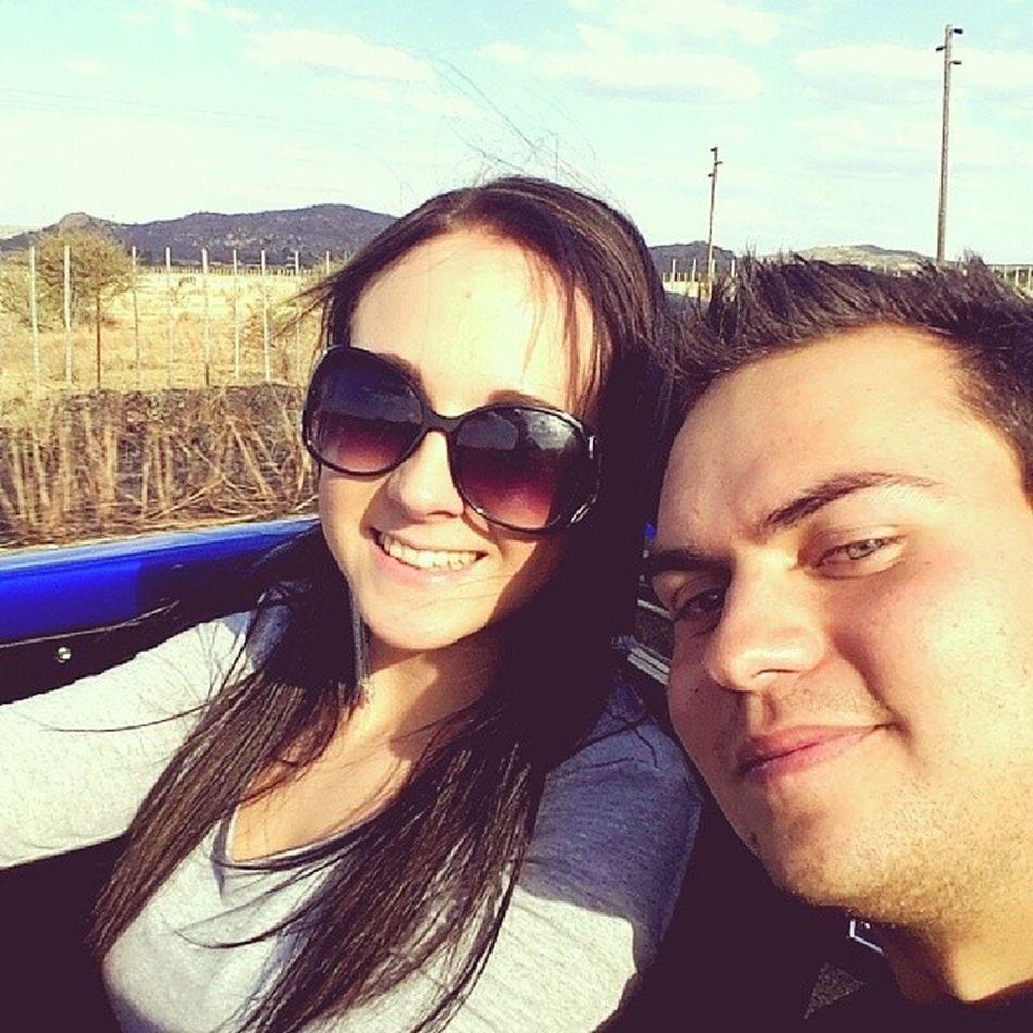 On the road! Fun Driving VW Bluebeatle windinmyhair sundaysselfies beautifulday