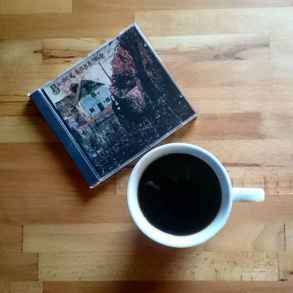 Great way to start the day. Morning Coffee Coffeelover Coffee Time Blacksabbath Musiclover Taking Photos