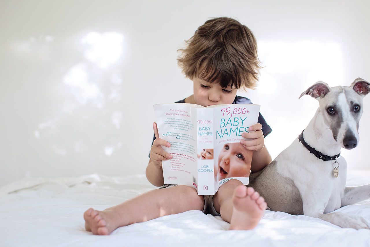 Our new chapter. Baby Storey due April 2016. Check This Out Babynames Book Reading Dog Boy Whippet Babyannouncement Taking Photos
