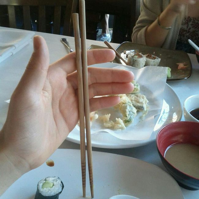 so that's why I was having trouble eating with chopsticks...