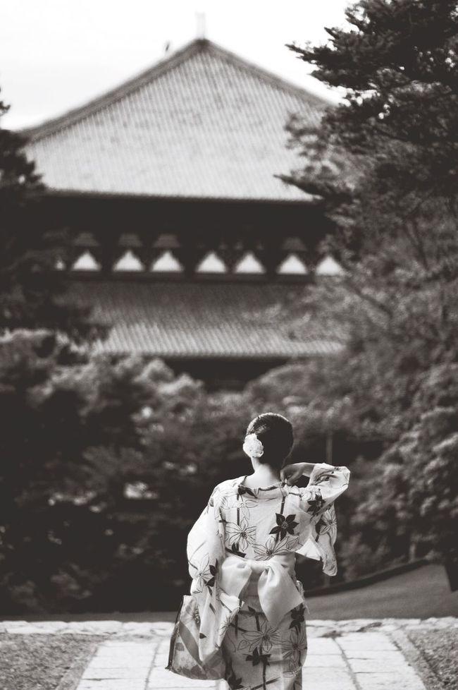 東大寺 二月堂 Todai-Ji Todaiji Blackandwhite Planar50/1.4 YUKATA Black & White Bw_collection Monochrome EyeEm Gallery Pentaxk7 Carl Zeiss Bw_lovers Pentax Lady