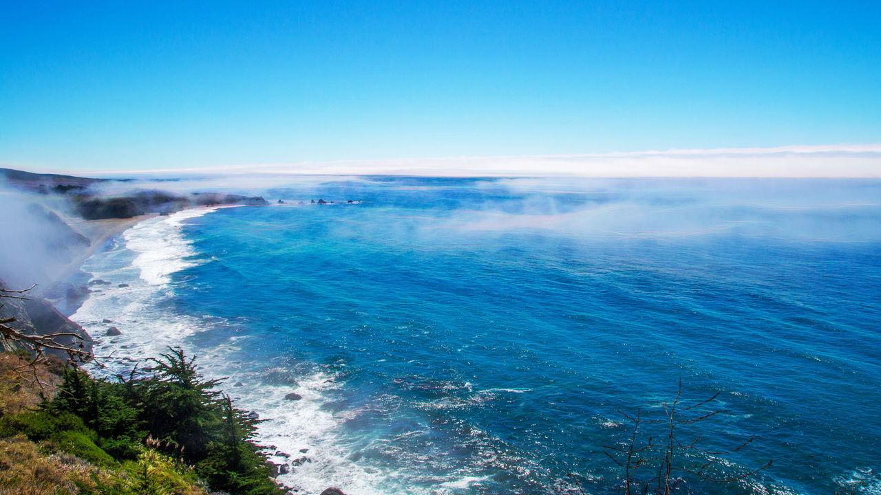Beauty In Nature Blue Clear Sky Day Horizon Over Water Nature No People Outdoors Scenics Sea Sky Topaz Glow Tranquility Water