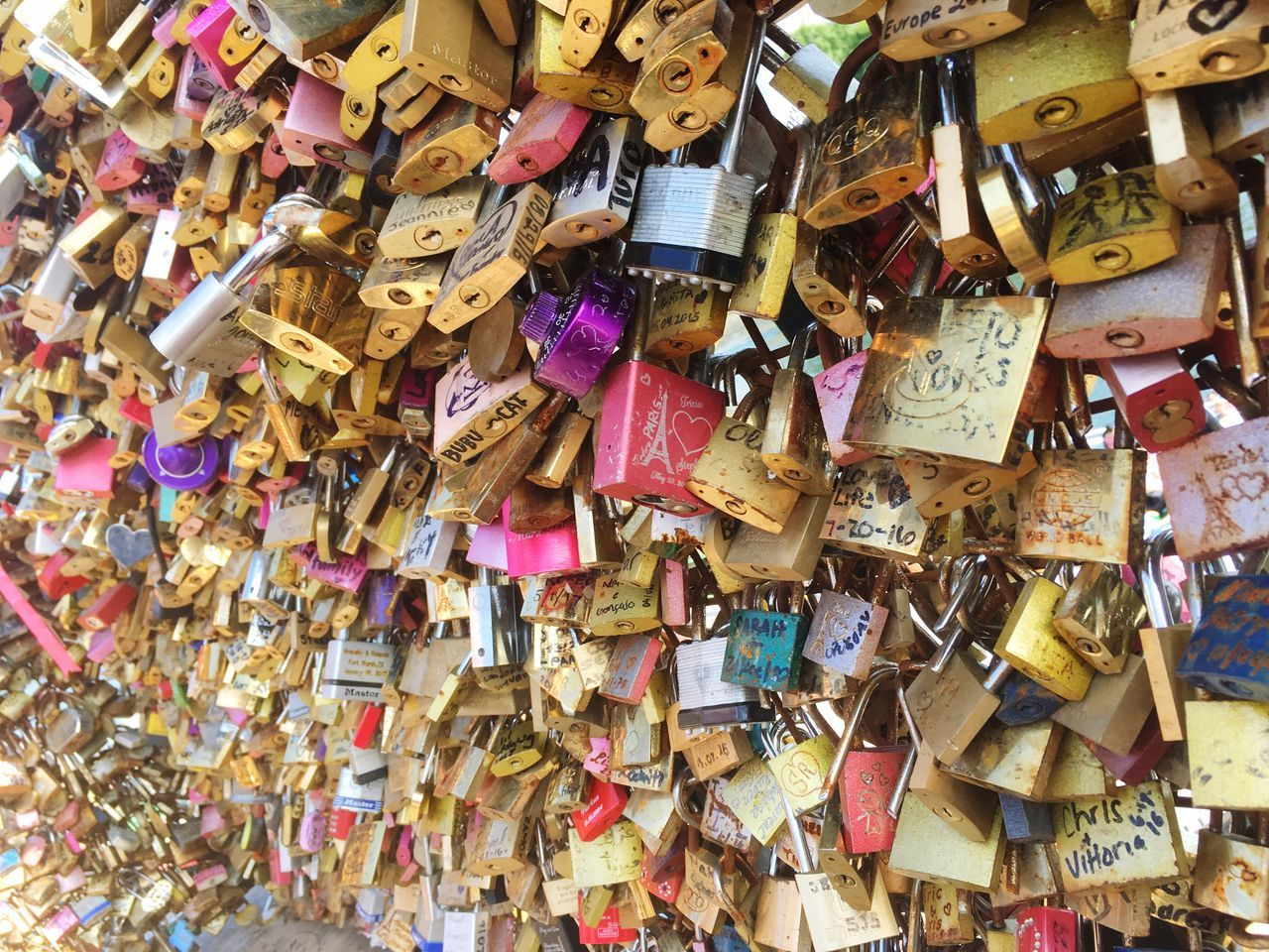 Lock Love Lock Large Group Of Objects Romance Love Wonderful Day Paris ❤