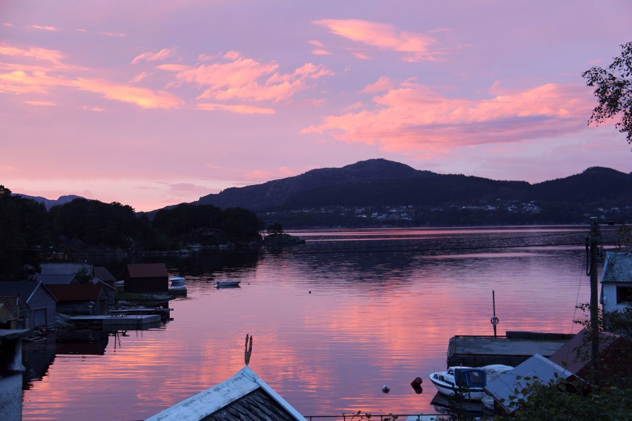 Nautical Vessel Mountain Water Sky Sunset Cloud - Sky Harbor Beauty In Nature Nature Dawn Norway Beautiful Norway