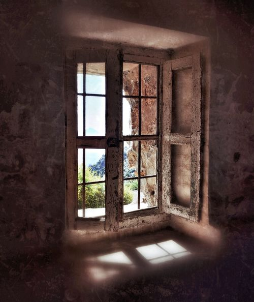 Window Window Abandoned Indoors  Damaged Architecture Day No People Metalwork Wooden Shutters