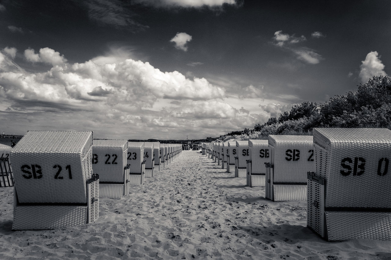German regulations Baltic Sea Beach Beach Basket Blach&white Cloud - Sky Day EyeEm EyeEm Nature Lover Fence Monochrome Monochrome Photography Nature Newtalent No People Numbers Outdoors Picket Fence Sand Sand Dune Sea Sky Usedom Zinnowitz
