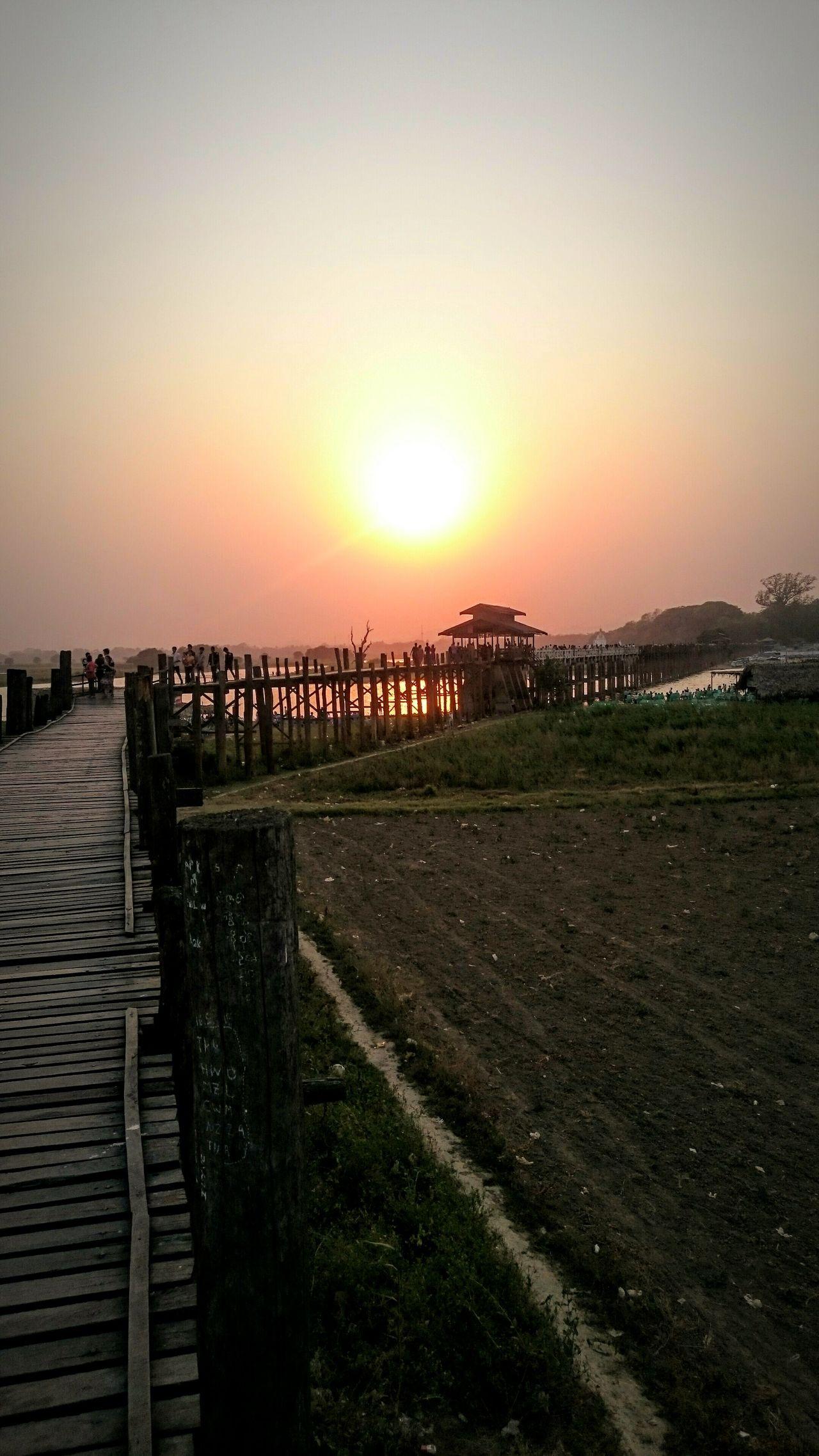 Amapura Mandalay Myanmar Burma Birma Dusk Sunset Purple Sky Sunset Silhouettes Sun Goes Down Teak Bridge The Longest Teak Bridge In The World Red Skies The Great Outdoors With Adobe Golden Moments