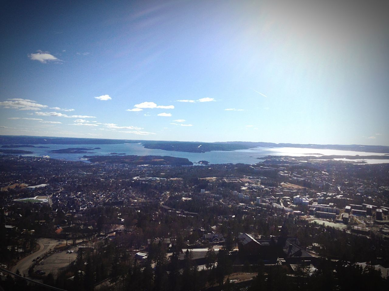 Flying High Cityscape City Crowded Architecture Aerial View Building Exterior Built Structure Sky Outdoors Day Holmenkollen Oslo