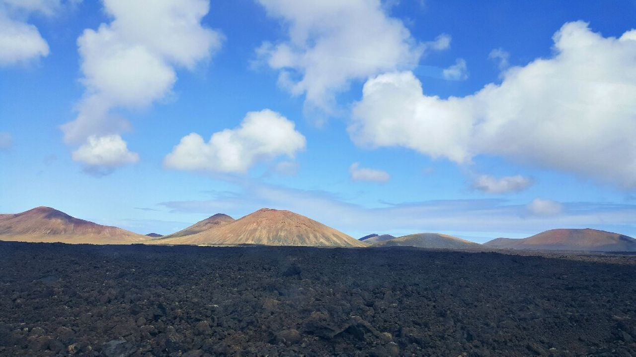 scenics, cloud - sky, tranquil scene, nature, tranquility, mountain, sky, beauty in nature, volcano, landscape, outdoors, volcanic landscape, day, no people, physical geography, arid climate