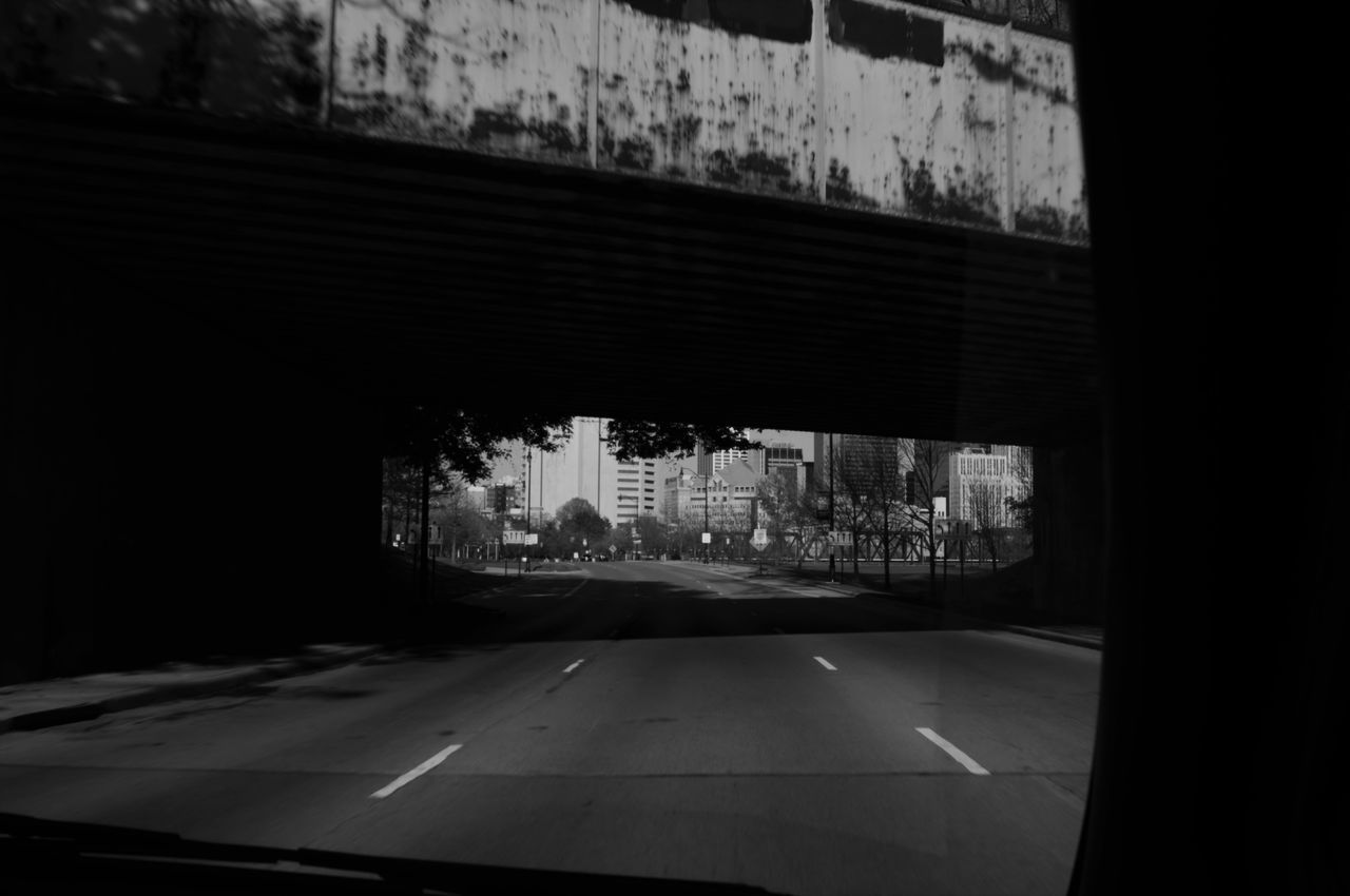 Black And White Clique Columbus, Ohio Dark Downtown Relaxing Shadows Sillouette Under The Bridge