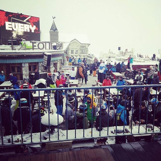Good times at Lafoliedouce Valdisere Après Snow Snowboarding Skiing Party Vip SnowParty