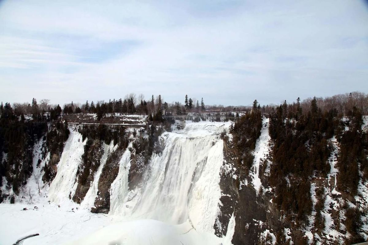 Winter Snow Waterfall Frozen Waterfall Montmorency Falls Quebec Canada Ice Climbing Nature Nature_collection Frozen Nature