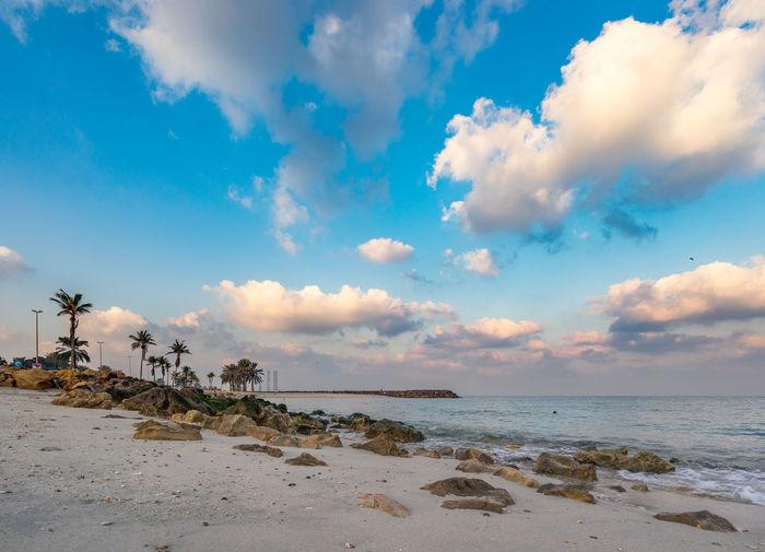 Beach Cloud Holiday Morning No People Sea Sharjah City Sky Water