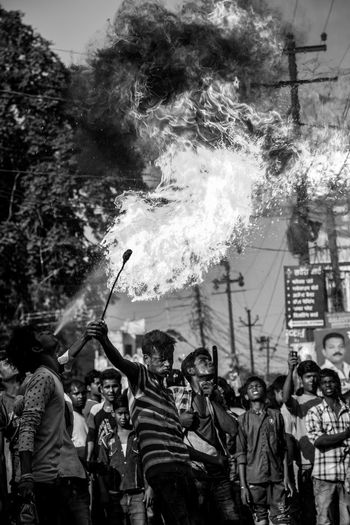 Scenes from a procession of Muharram in Lucknow, India #Mourning of Muharram is a set of rituals associated with Shia Islam. The event marks the anniversary of the Battle of Karbala when Imam Hussein was killed by forces of Yazid I. Festival Islam Moharram Muharram Relaxing Streetphotography The Photojournalist - 2016 EyeEm Awards The Street Photographer - 2016 EyeEm Awards Original Experiences Lucknow India Eyeemphoto Two Is Better Than One Monochrome Photography Dramatic Angles TakeoverContrast Enjoy The New Normal My Year My View Welcome To Black Be. Ready.