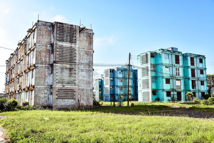 Architecture Building Exterior Built Structure Day Grass Outdoors No People Sky Clear Sky Factory Industry Santa Clara Cuba Cuba The Architect - 2017 EyeEm Awards