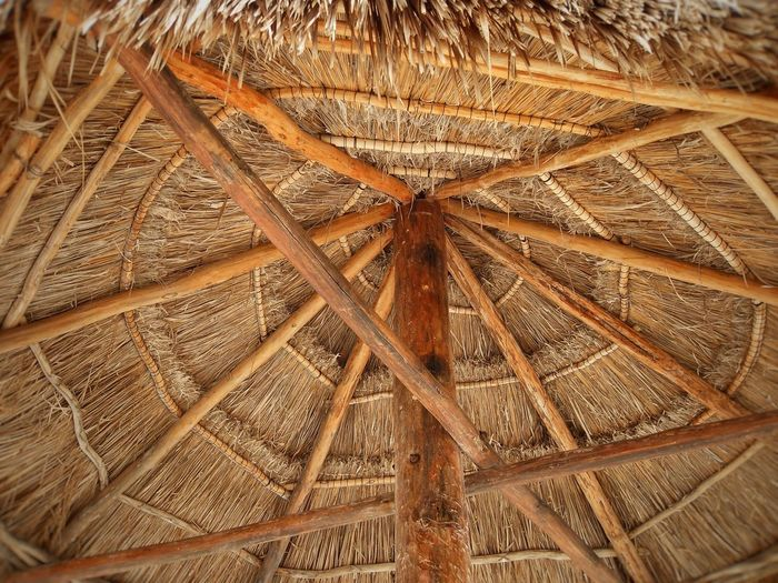 Backgrounds Beach Brown Close-up Day Full Frame Indoors  Low Angle View No People Roof Shelter Thatched Roof Thatched Umbrella Umbrella Wood - Material