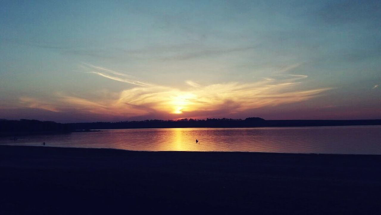 Simplesmente encantador Pôrdosolmaravilhoso Sunset Nature Reflection Tranquility Beauty In Nature Horizon Over Water Nature_perfection