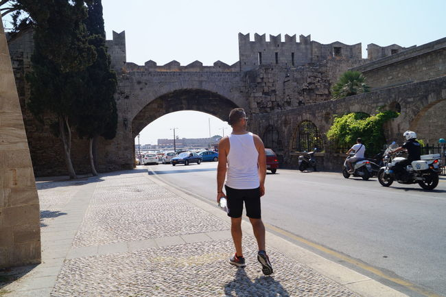 Architecture Built Structure Castel City Life Day Hello World Holiday Outdoors Rhodos Street Streetphotography ThatsMe Walking Alone... Walking Around