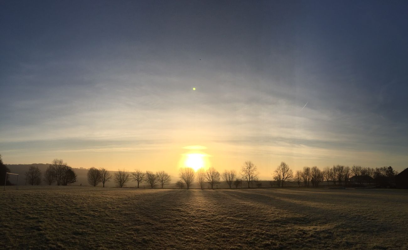 IPhoneography Panoramic Photography Aston Sunset Sky Morning Sun Sunrise Blue Sky Winter Frosty Mornings Countryside My Favourite Photo