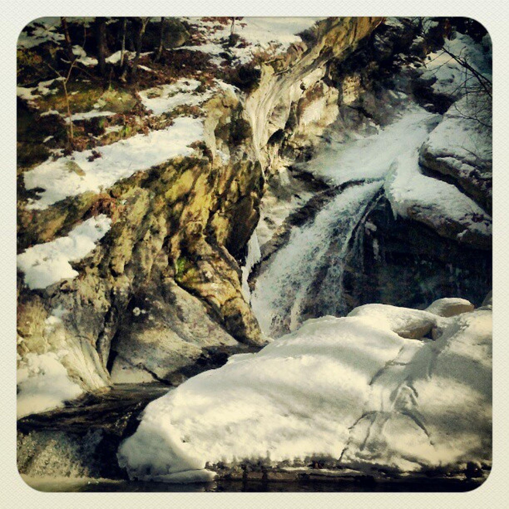 Waterfall Icicles Iceeverywhere Frozencreek Snow stillsnowing waterturnsintoice eastcoast upstateny energy