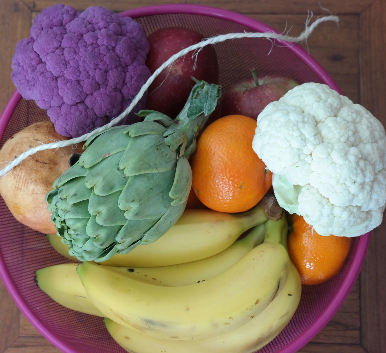 Close-Up Of Fruits And Vegetables In Bowl