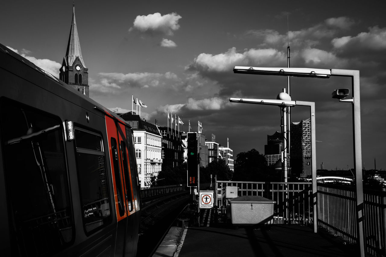 Hamburg Tram by www.eightTWOeightSIX.de Transportation Architecture City Outdoors Urban Urban Geometry Urban Landscape Urban Lifestyle The Way Forward Urban Skyline City Life No People Tram Underground Underground Station  Station Landungsbrücken  Hamburg Hamburgcity Hamburg Harbor Blackandwhite Black And White Black & White Buildings Germany Adapted To The City