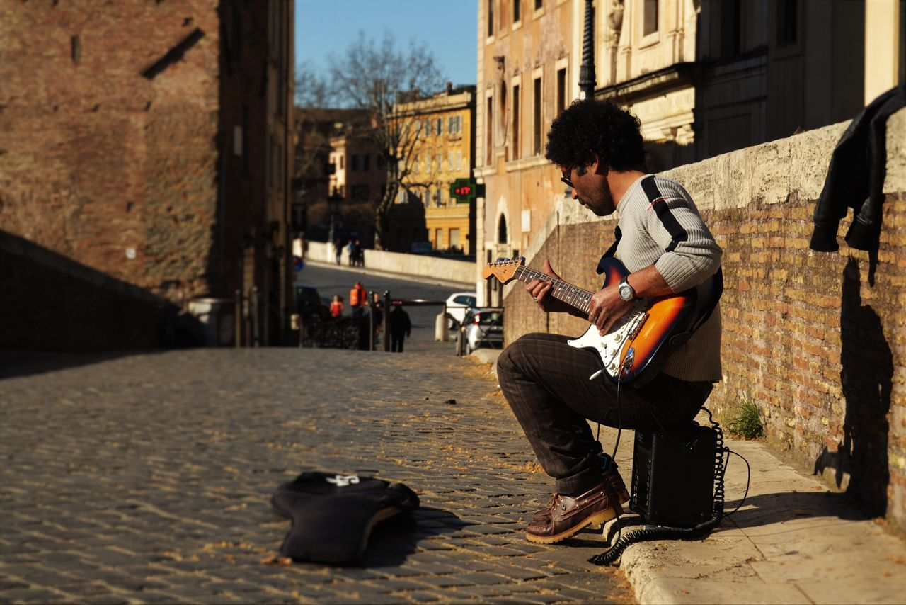 Guitar Guitarist Musician Rome Shadows Songs