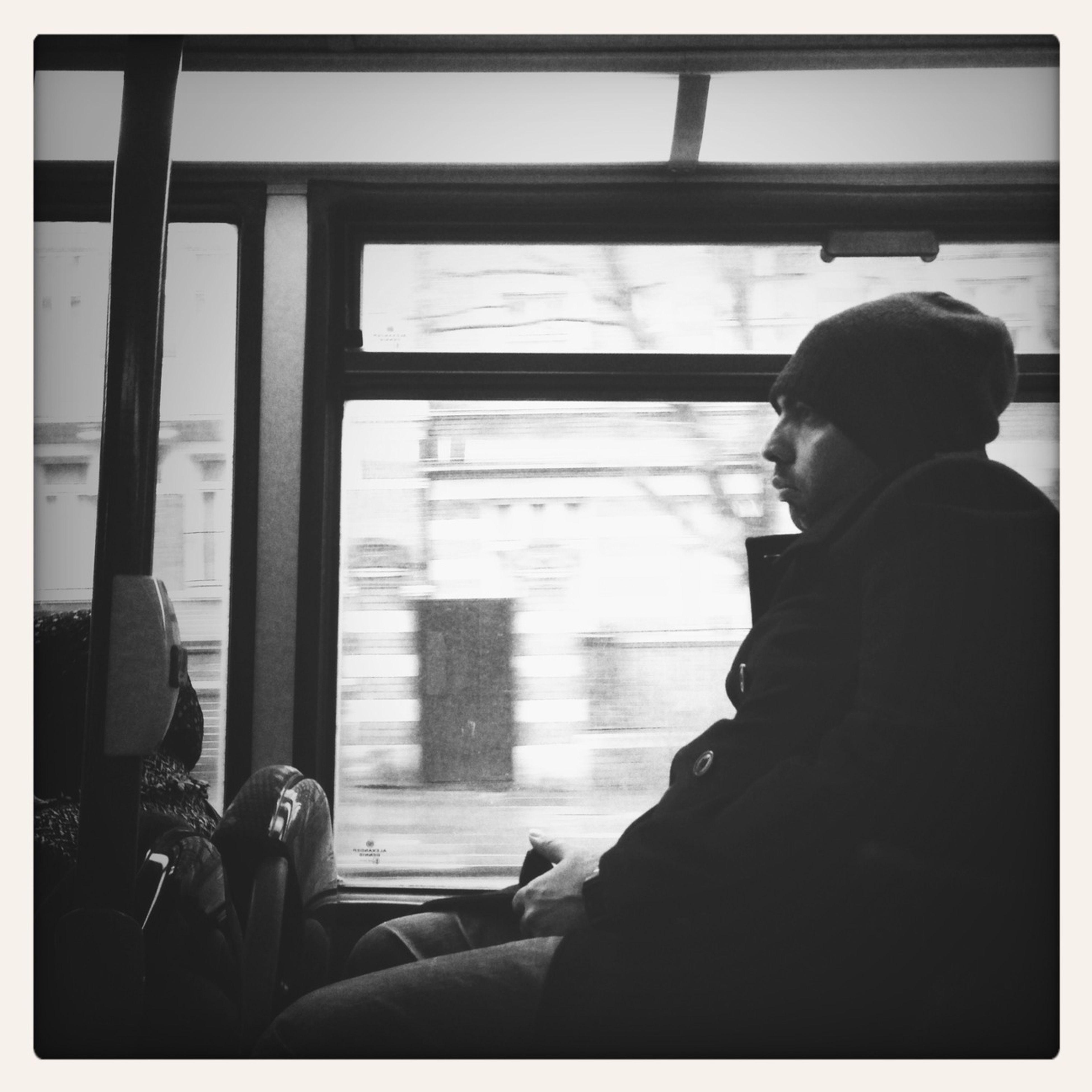 Sitting On Bus
