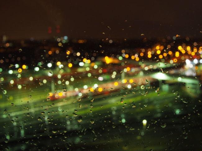Rain over trains Rain Train Defocus Night