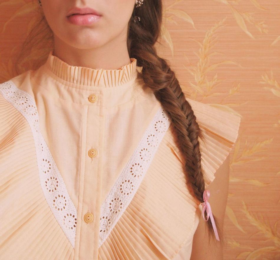 Beautiful stock photos of vintage, Beautiful Woman, Braids, Brown Hair, Casual Clothing