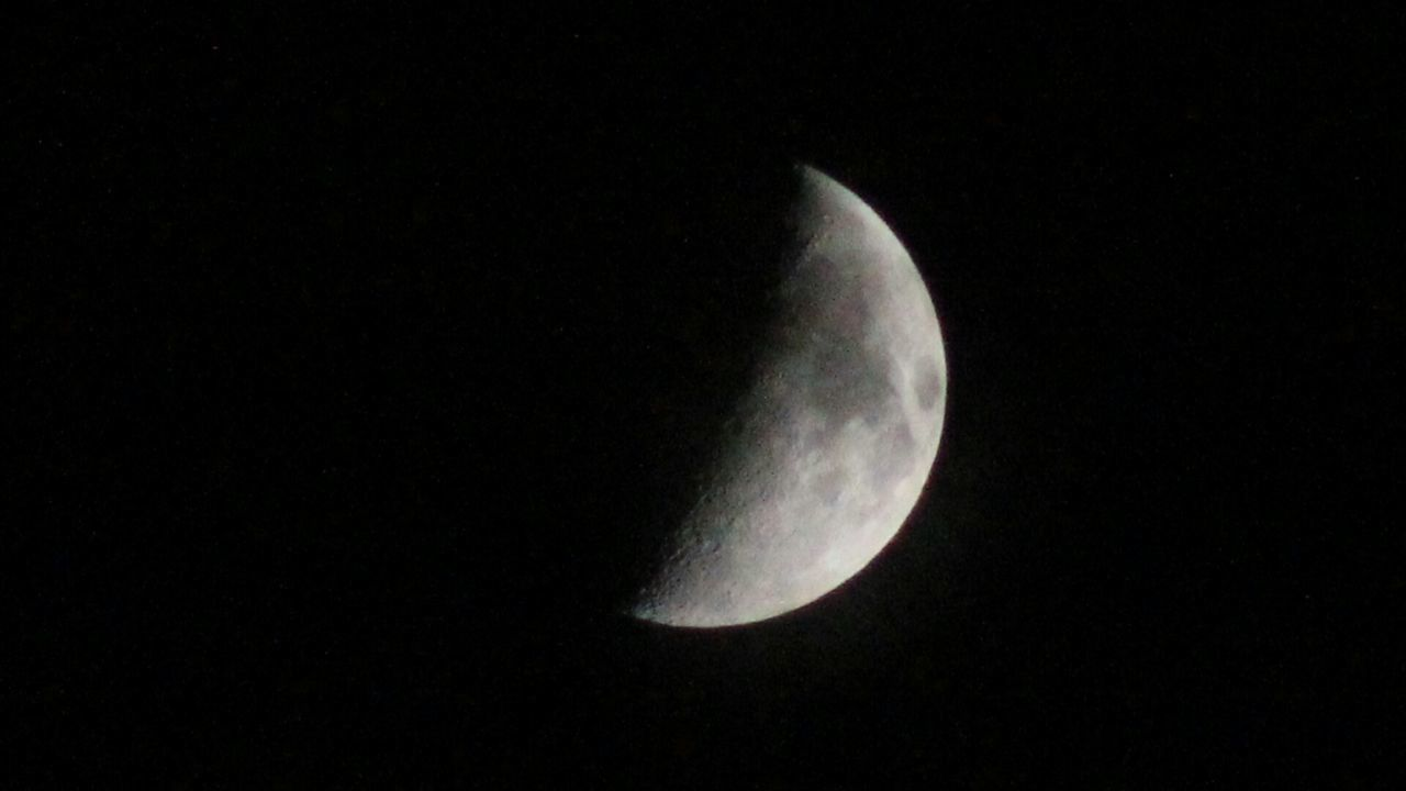 Moon Night Night Sky Beautiful Half Moon Photooftheday Check This Out Unedited