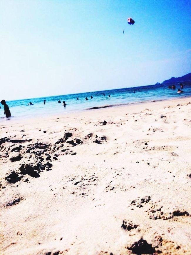 Enjoying The Sun Sea Swimming Relaxing