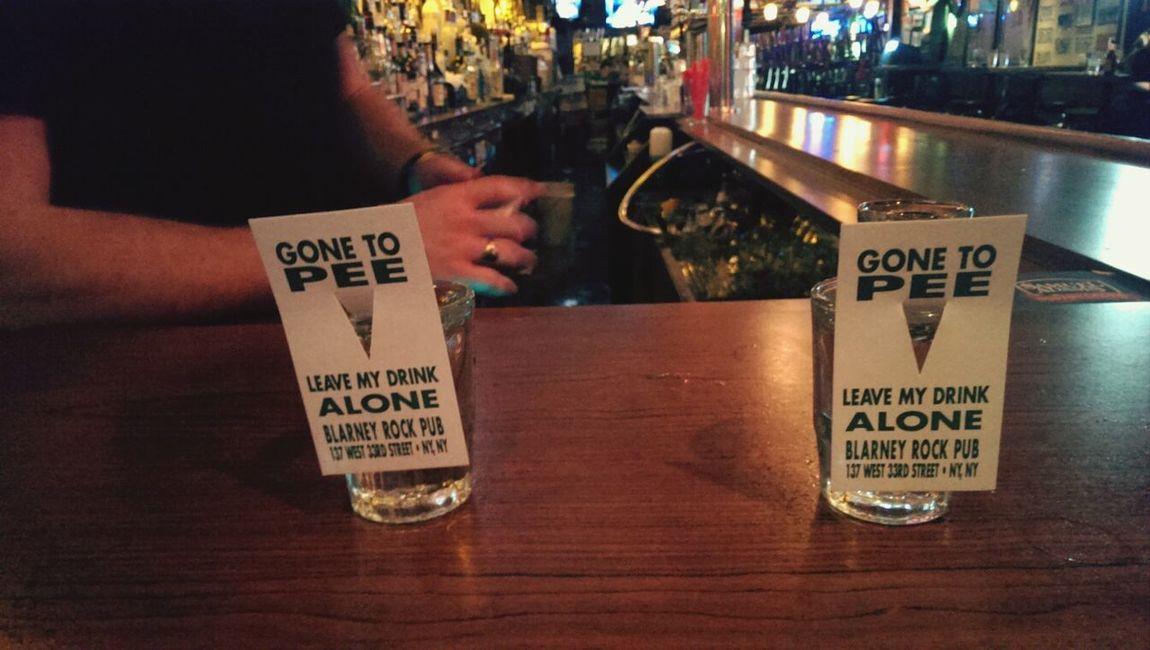 Gone to pee. ©Byron Guinanzaca. Pub Newyorkcity LOL