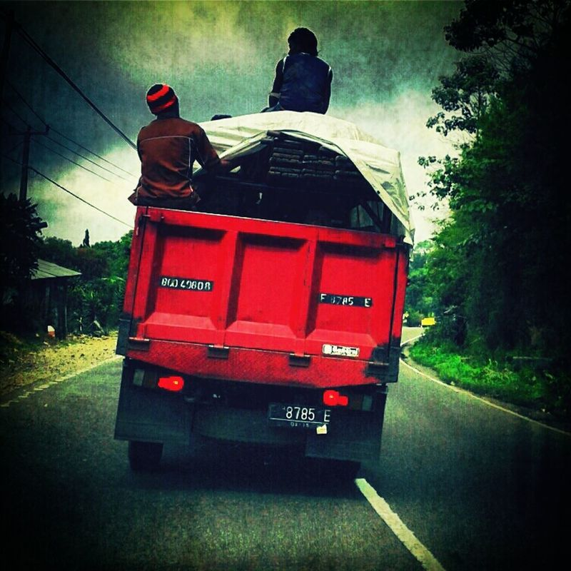 safety first..????? on the road Red by Ui N